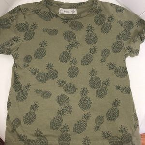 Lft Shirts & Tops - Lft boys army green tee shirt with pineapples 4-5Y